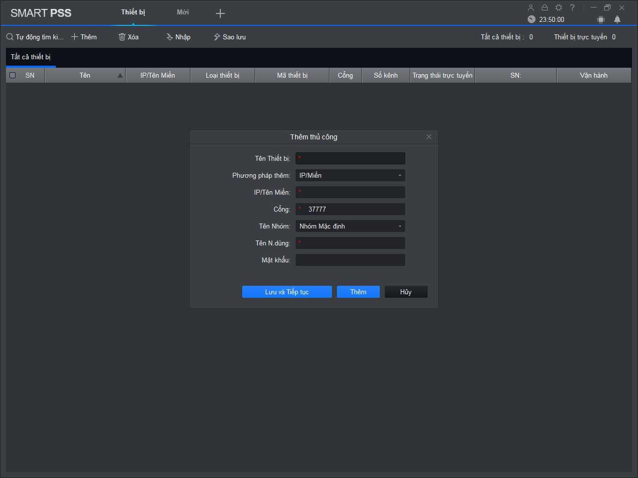 Cấu hình IP phần mềm Smart PSS xem camera Dahuua trên máy tính