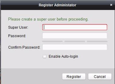 Đăng kí User và Password phần mềm xem camera HIKVISION trên máy tính iVMS 4200